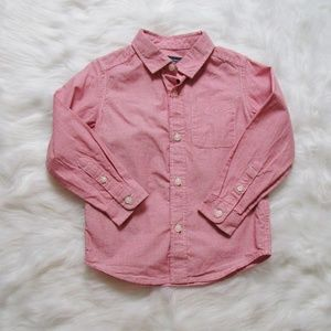 Boys' Size 3T Pink Button-Down Shirt